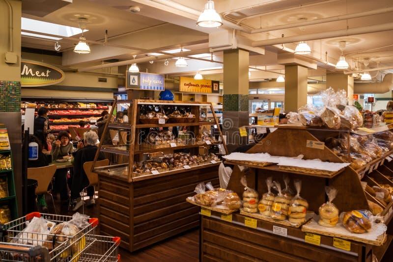 Interior de una cafetería en Greektown en Toronto fotos de archivo libres de regalías