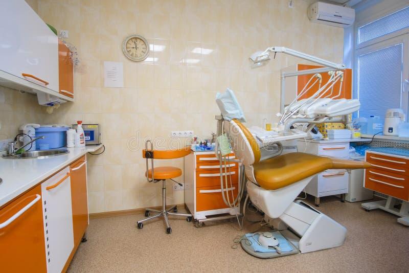 Interior de una clínica stomatologic imagen de archivo libre de regalías