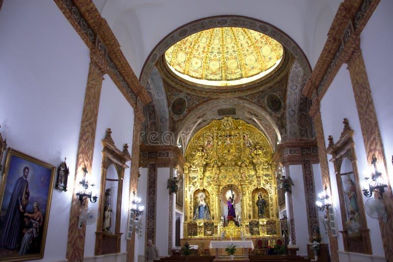 Interior de una iglesia Un altar y una cámara acorazada Rdoba del ³ de Castro del Rio CÃ fotografía de archivo libre de regalías