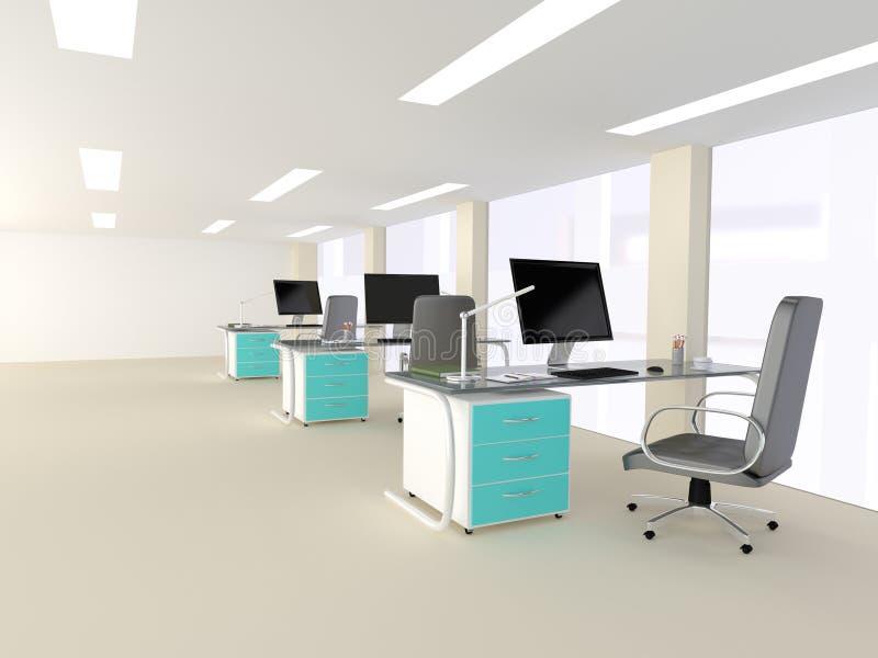 Interior de una oficina minimalista moderna brillante fotografía de archivo