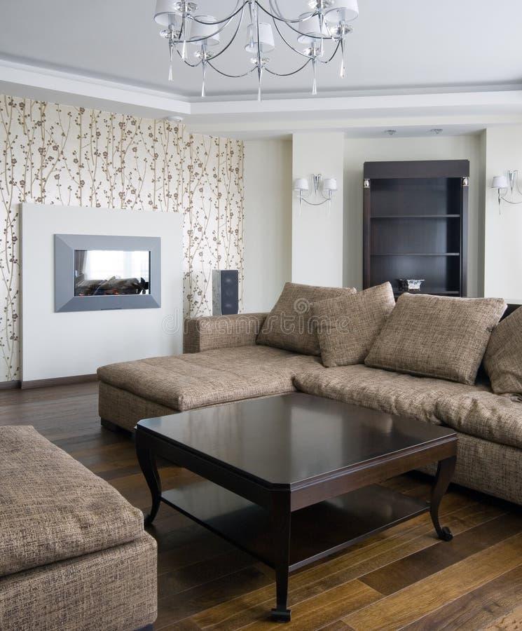 Interior de una sala de estar foto de archivo