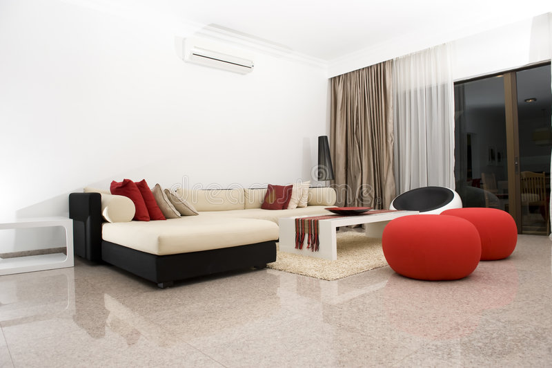 Interior de una sala de estar imagen de archivo libre de regalías