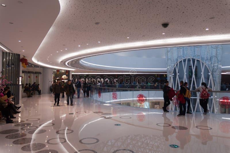 Interior de Wanda Plaza na rua de Han imagem de stock royalty free
