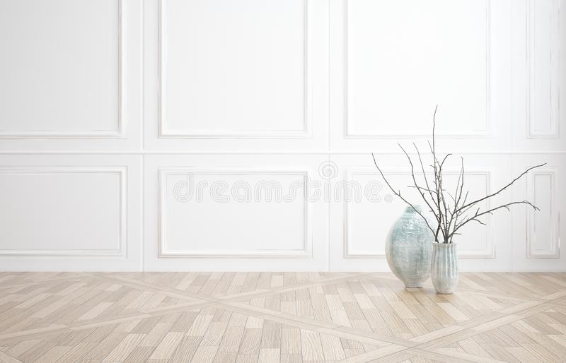 Interior decor background with white wood paneling stock Curtains for wood paneled room