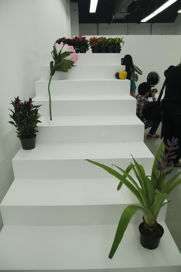 Interior decoration before the PH5 Presentation royalty free stock photo