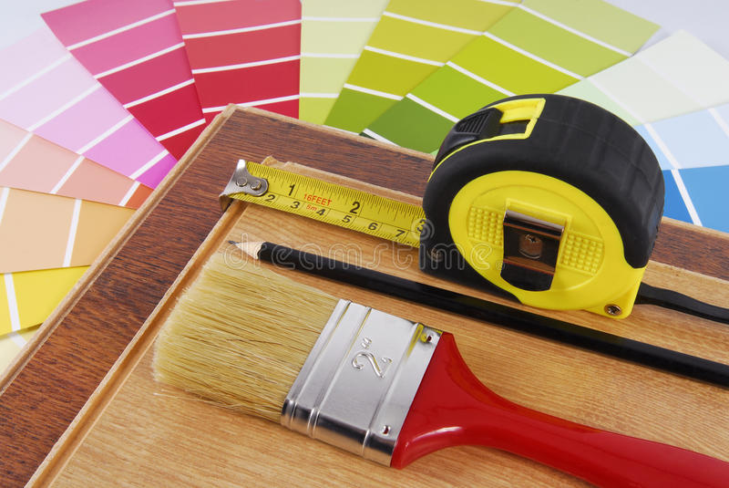 Interior decoration repair. Improvement planning royalty free stock photography