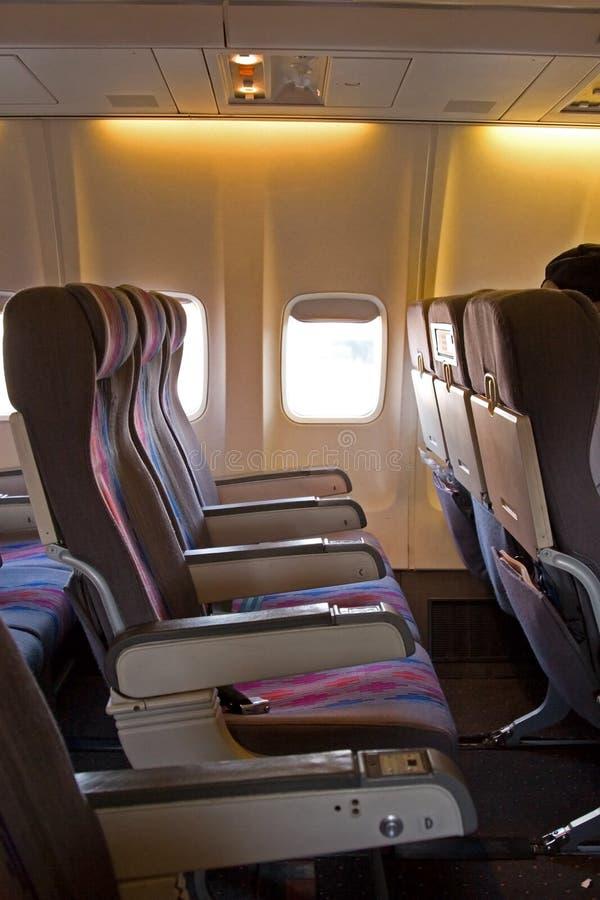 Interior del aeroplano fotos de archivo