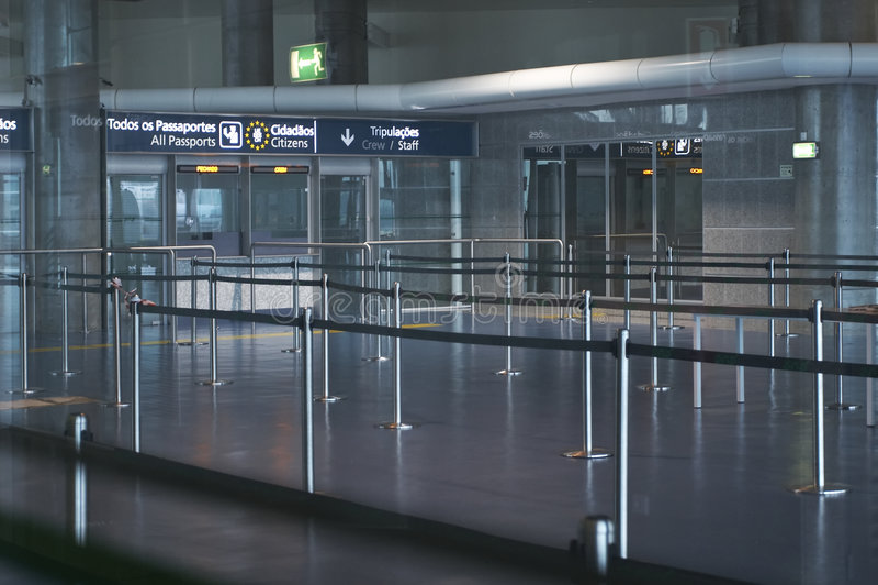 Interior del aeropuerto fotos de archivo libres de regalías