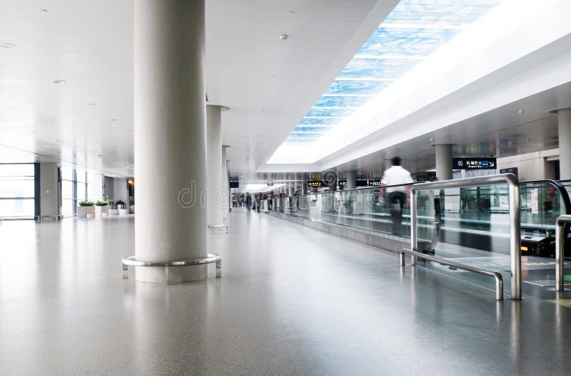 Interior del aeropuerto imagen de archivo libre de regalías