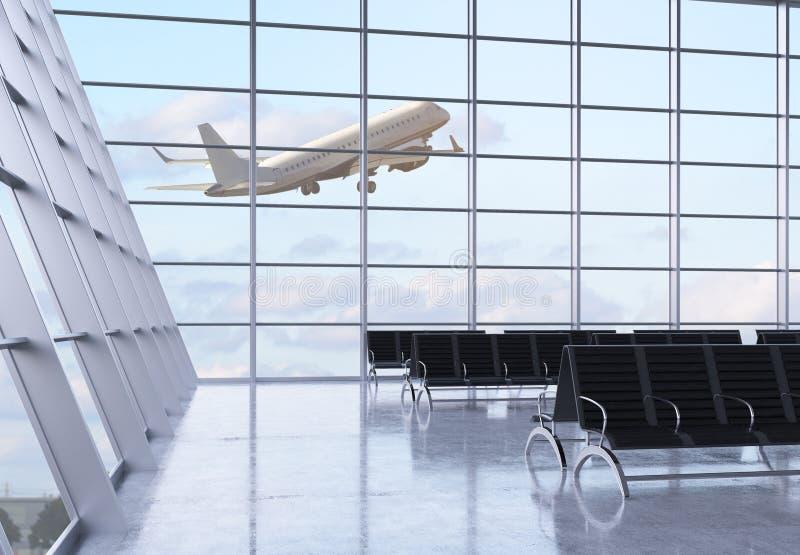 Interior del aeropuerto ilustración del vector