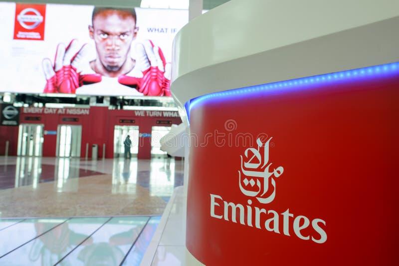 Interior del aeropuerto de Dubai International imagen de archivo libre de regalías