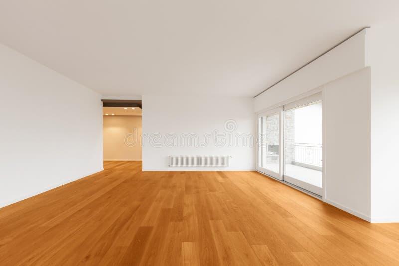 Interior del apartamento moderno, sitio vacío imagen de archivo