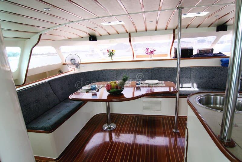 Interior del barco foto de archivo