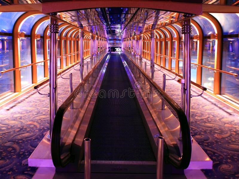 Interior del barco de cruceros imagen de archivo libre de regalías