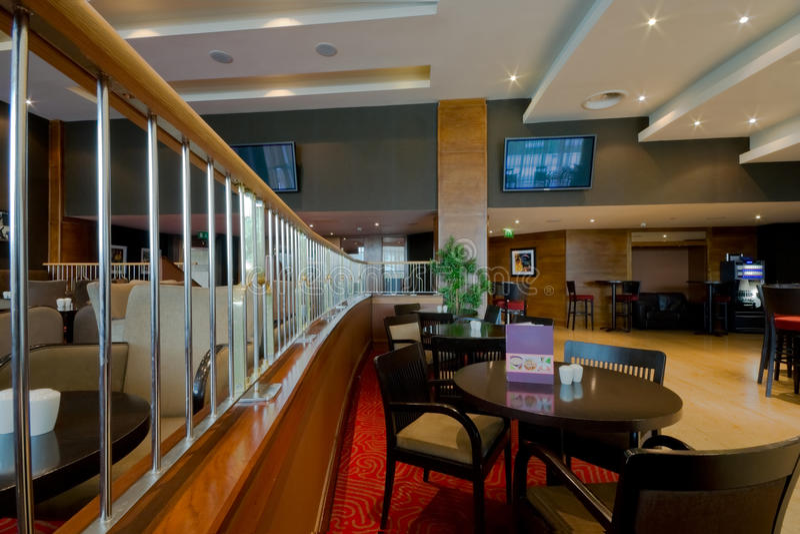 interior del Barra-restaurante fotos de archivo