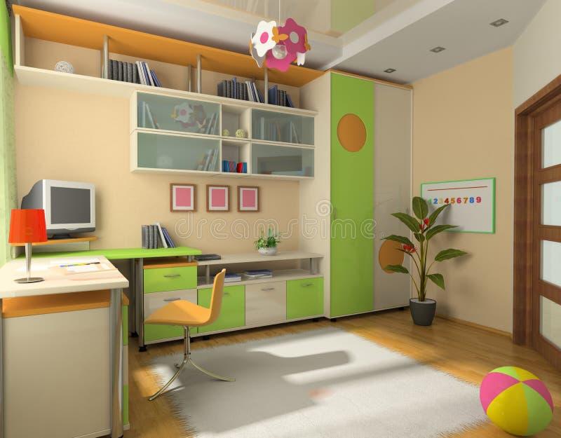 Interior del bebé ilustración del vector