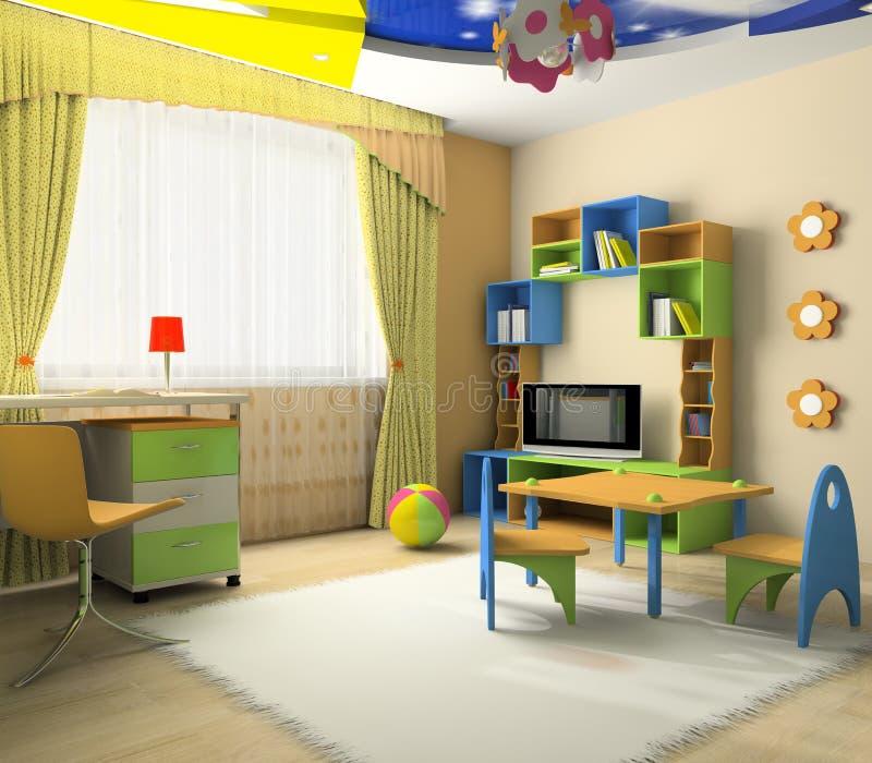 Interior del bebé stock de ilustración