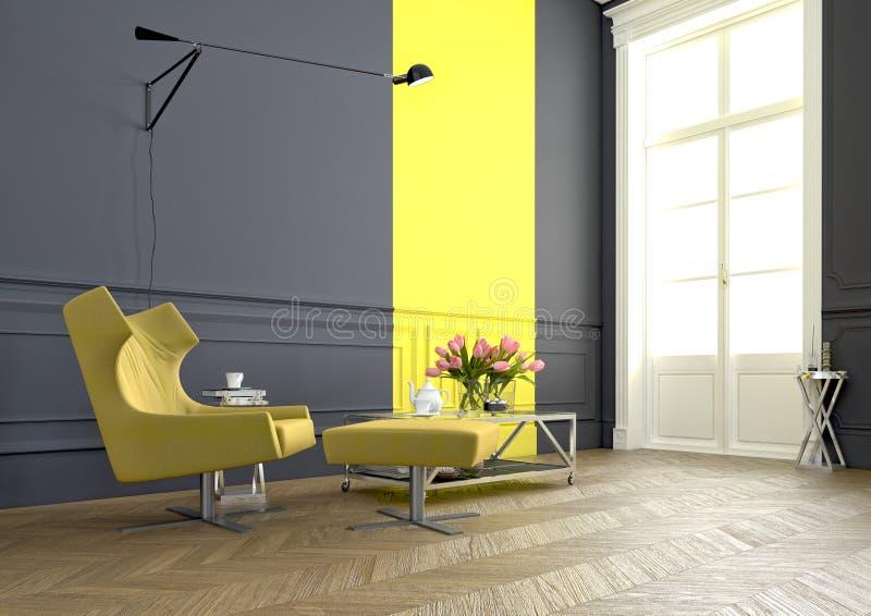 Interior del brazo chair representación 3d ilustración del vector
