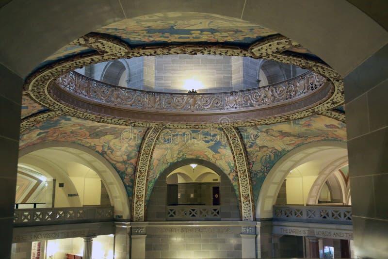 Interior del capitolio del estado de Missouri imágenes de archivo libres de regalías