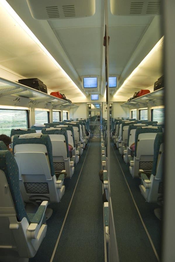 Interior del carro en un tren fotografía de archivo libre de regalías