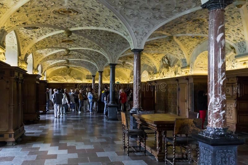 Interior del castillo de Frederiksborg, Dinamarca fotografía de archivo