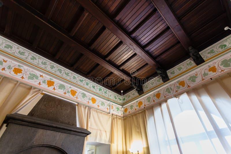 Interior del castillo de la jerarquía del ` s del trago en Crimea fotos de archivo libres de regalías