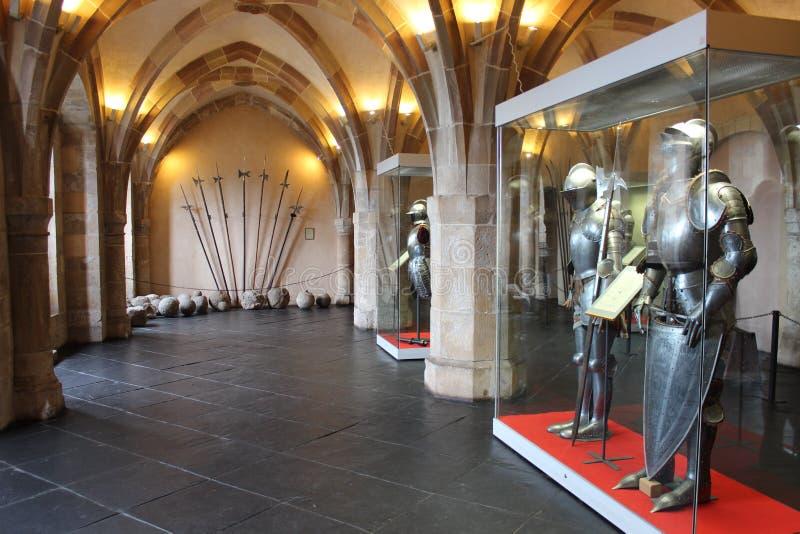 Interior del castillo de Vianden, Luxemburgo fotografía de archivo