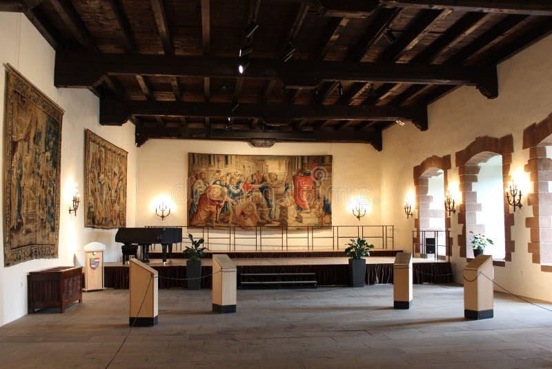 Interior del castillo de Vianden, Luxemburgo foto de archivo