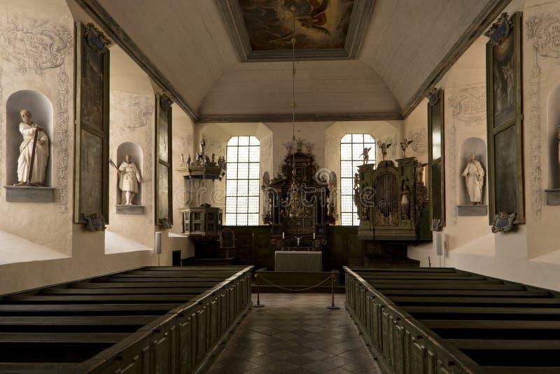 Interior del castillo Laekoe en sueco fotografía de archivo libre de regalías