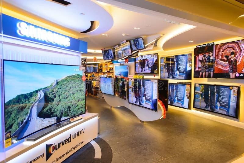 Interior del centro comercial de Hong Kong foto de archivo libre de regalías