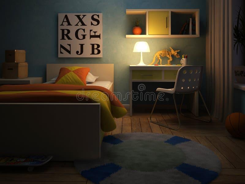 Interior del childroom stock de ilustración