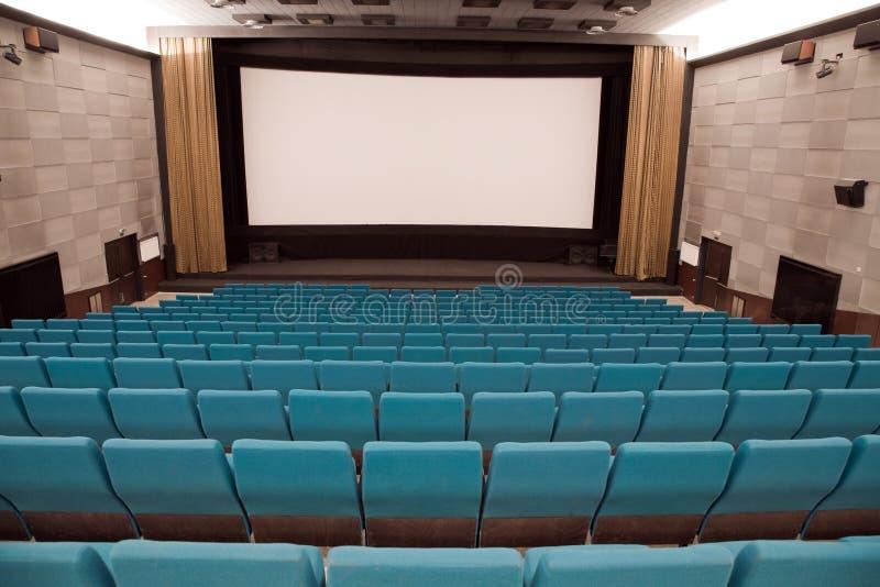 Interior del cine fotos de archivo
