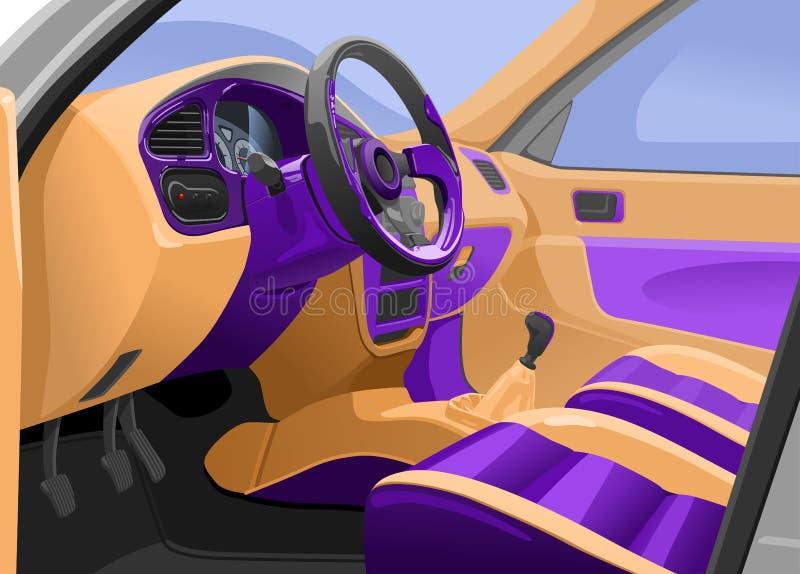 Interior del coche ilustración del vector