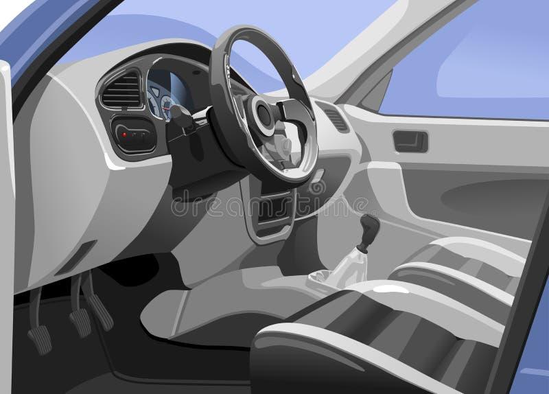 Interior del coche stock de ilustración