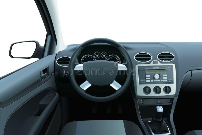 Interior del coche del vector fotografía de archivo libre de regalías