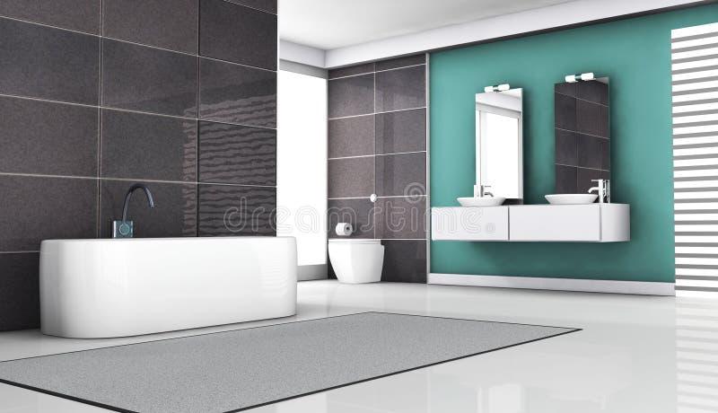 Interior del cuarto de baño libre illustration