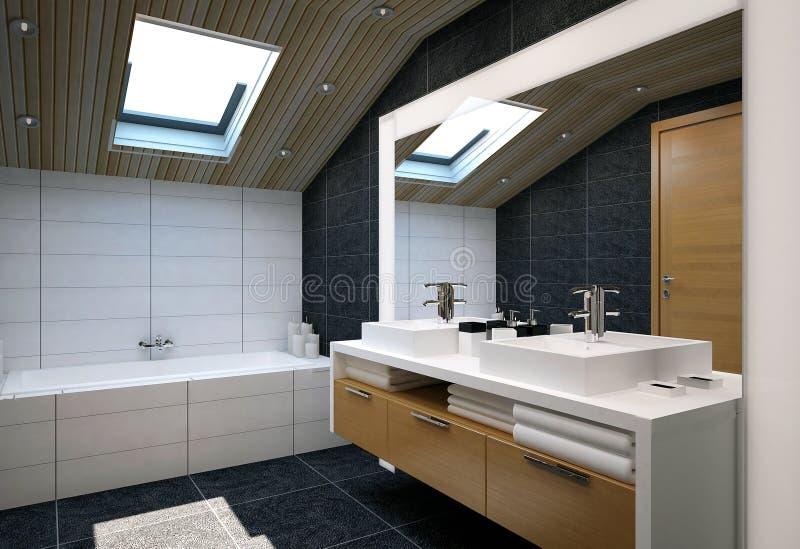 Interior del cuarto de baño ilustración del vector
