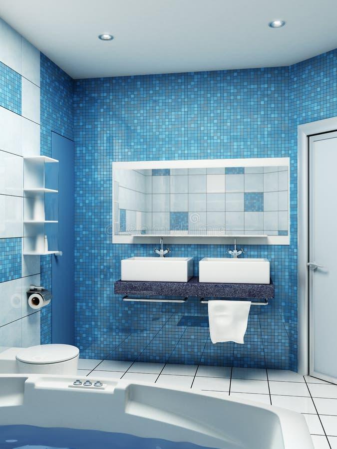 Interior del cuarto de baño stock de ilustración