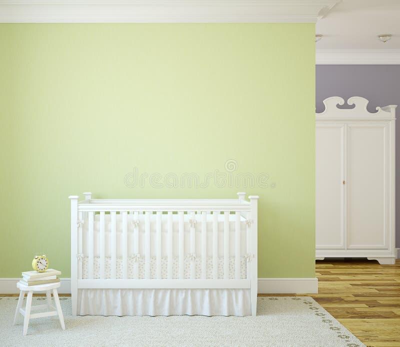Interior del cuarto de niños. ilustración del vector
