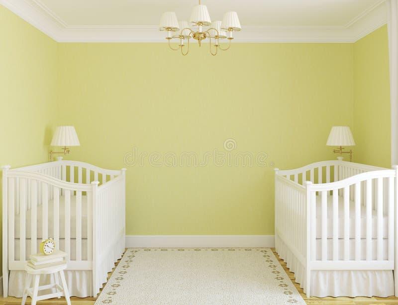 Interior del cuarto de niños. libre illustration