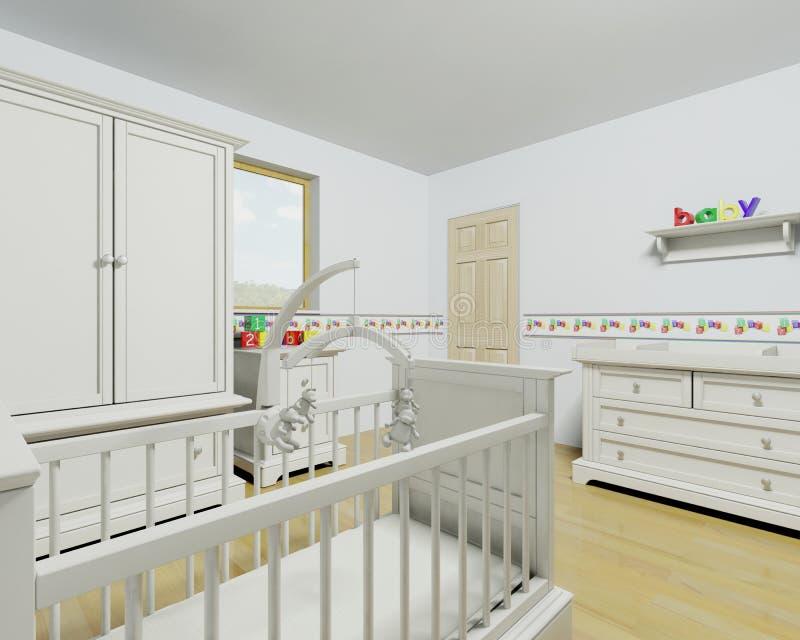 Interior del cuarto de niños ilustración del vector