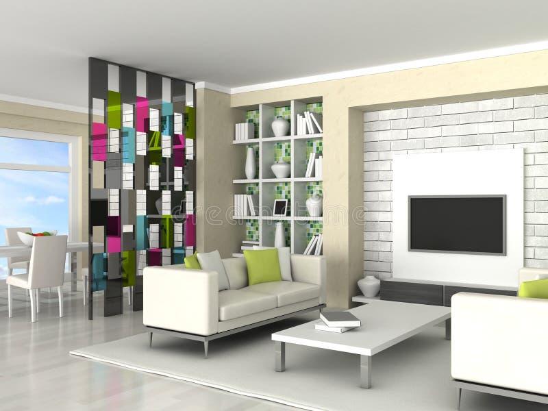 Interior del cuarto moderno, sala de estar libre illustration