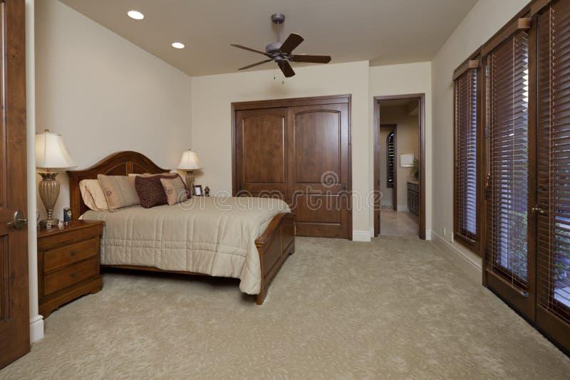 Interior del dormitorio fotos de archivo