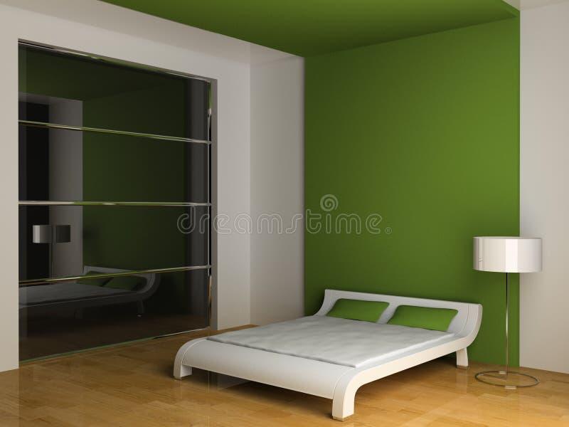 Interior del dormitorio stock de ilustración