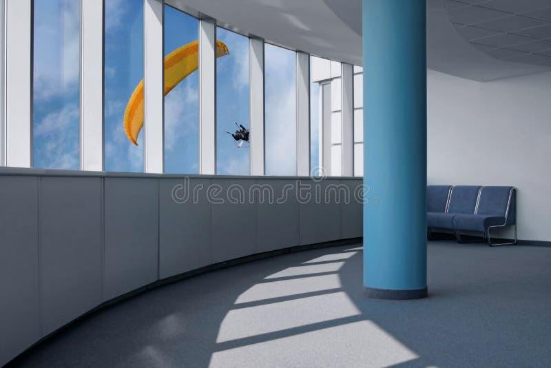 Interior del edificio de oficinas imagen de archivo