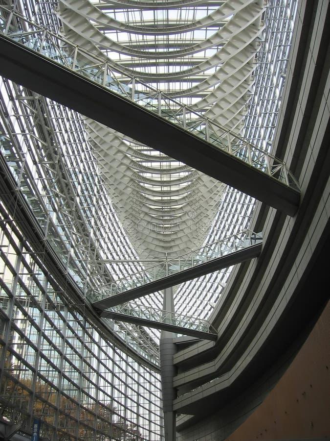Interior del edificio del metal imagenes de archivo