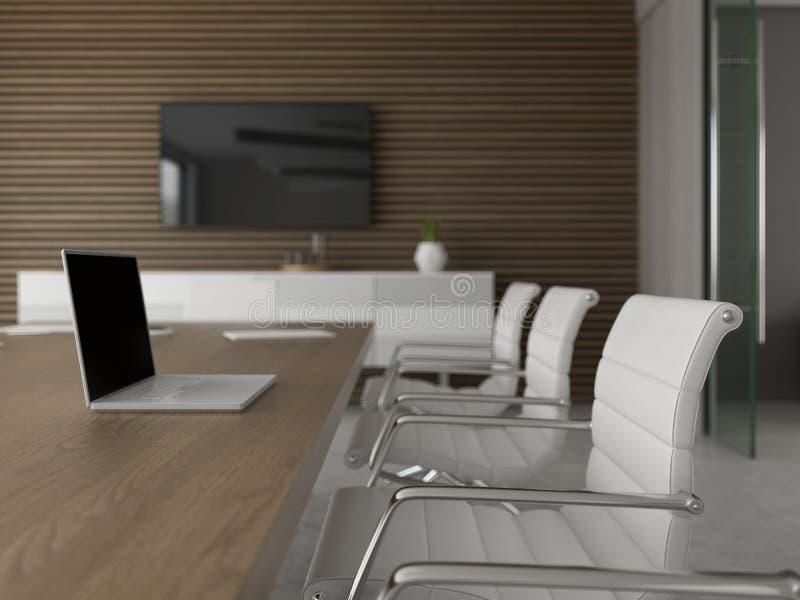 Interior del ejemplo de la sala 3D de la recepción y de reunión libre illustration