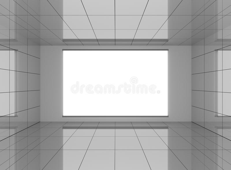 Interior del extracto en sitio con el fondo blanco en blanco stock de ilustración