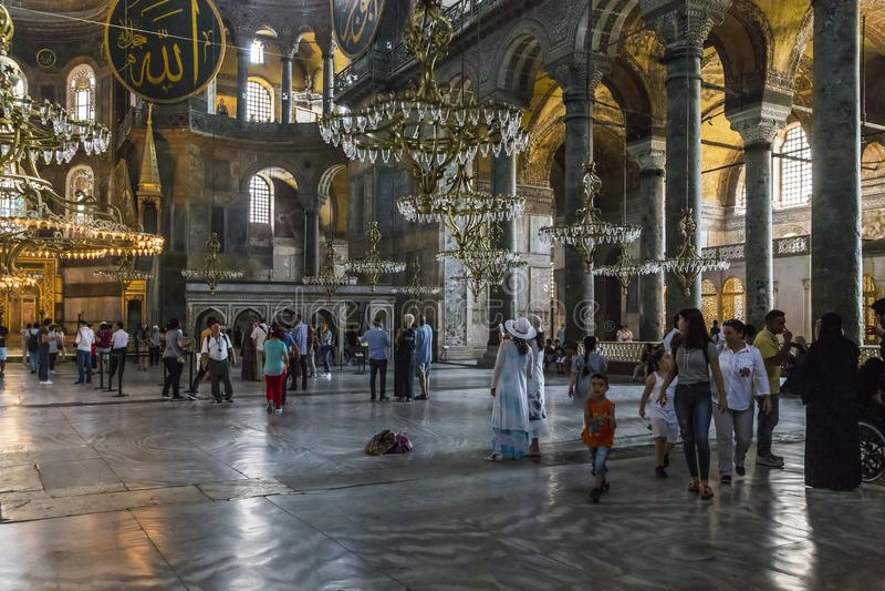 Interior del Hagia Sophia, Estambul fotografía de archivo libre de regalías