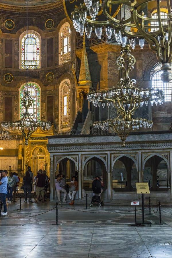 Interior del Hagia Sophia, Estambul fotos de archivo libres de regalías